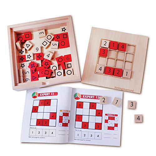 4x4 amp 6x6 Wooden Sudoku Logic Thinking Puzzle Game for Kids with 60 Challenges