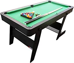5 ft foldable billiard table, pool table with accessories Adjustable Folding billiard tables and other accessories and bal...