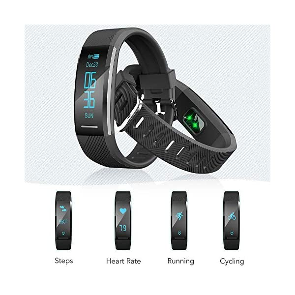 AGPTEK Pulsera de Actividad Inteligente Impermeable IP67, Reloj Deportivo con GPS Podómetro, Monitor de Ritmo, Calorías… 3