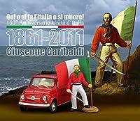 BRUMM(ブルム) イタリア製 フィアット ミニカー 1/43 FIAT 500 イタリア建国150年記念 ジュゼッペ ガリバルディ フィギュア付き [並行輸入品]