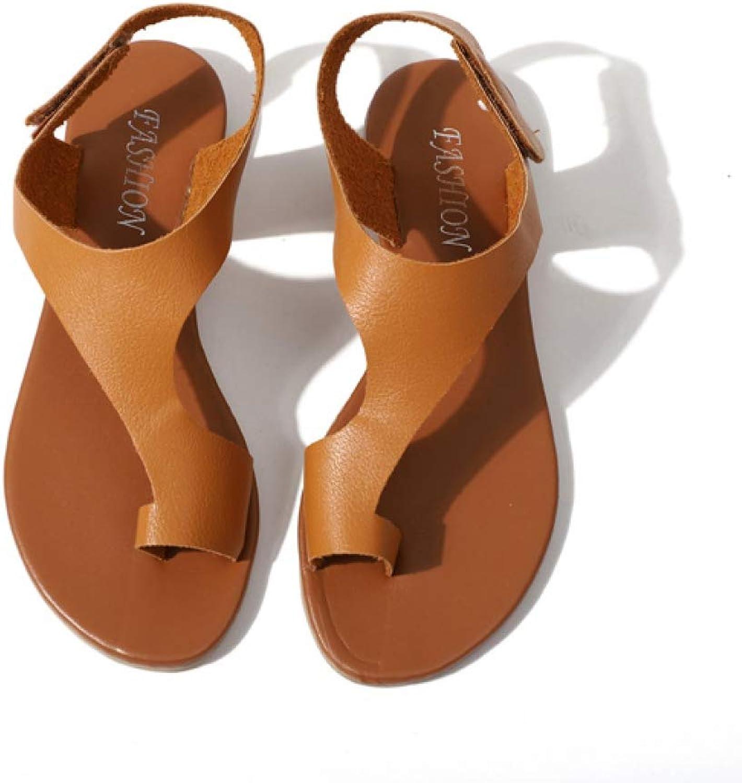 Btrada Women's Flats shoes Summer Comfortable Thong Sandals Female Casual Outdoor Clip Toe Non-Slip Footwear