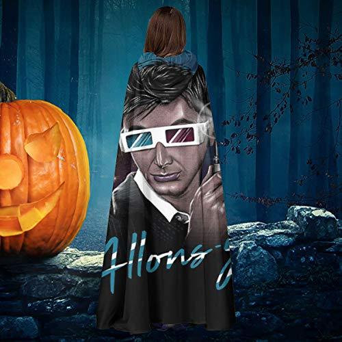 NULLYTG - Disfraz de Doctor Who David Tennant Allons Y Retro Wave, Unisex, para Halloween, Bruja, Caballero, con Capucha, Capa de Vampiros, Capa de Disfraces de Cosplay