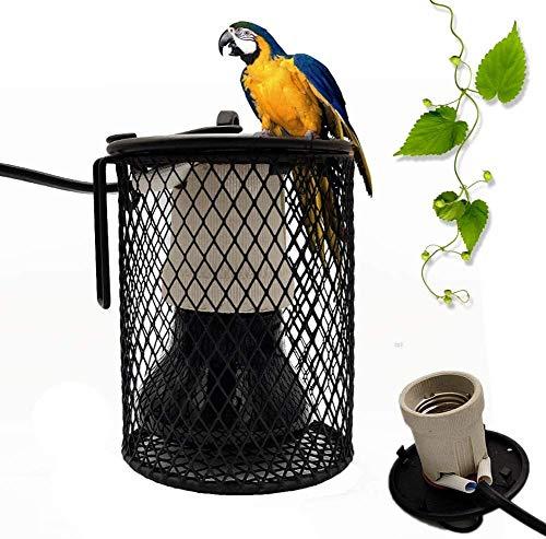 WSZYBAY Lámpara De Calor De La Lámpara De Calor del Reptil con Anti-mordedura Tubo De Hierro, Caja Alimentos para Mascotas Bombilla De La Lámpara De Calor, Colgantes para Mascotas Jaula 25W