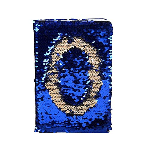 Sequin Notebook Reversible Sequin Journal Travel Journal Notebook Gift for Adults and Kids, O Printed