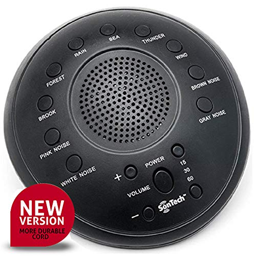 SonTech - White Noise Sound Machine - 10 Natural Soothing Sound Tracks Home, Office, Travel, Baby...