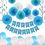 Bliqniq Party Deco Birthday Kit, 43pcs Decoración Feliz CUMPLEAÑOS Banner Garlands Pennants Kit...