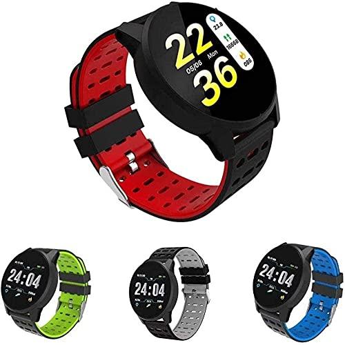 Reloj de Pulsera para Hombre con una presión Arterial y Ritmo cardíaco 5 Relojes A: Rojo Negro