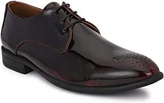 Park Avenue Solid Maroon Coloured Synthetic Men Shoes