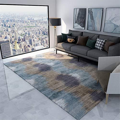 MMHJS Mobiliario para El Hogar Alfombra Abstracta Simple Sala De Estar Alfombra Rectangular Grande Suave Y Cómoda 120x180cm
