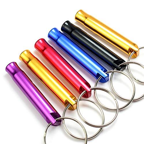 gxglhgsy Llavero 100 PCS/Lot Mini aleación de Aluminio del silbido del Llavero de Emergencia Exterior Creatividad (Color : 100pcs, Gem Color : Mixed)