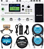 MOOER GE250 Guitar Amp Modelling and Multi-Effects Pedal Bundle with Blucoil 2-Pack of 10-FT Balanced XLR Cables, 10' Straight Instrument Cable (1/4'), 5' MIDI Cable, and 2-Pack of Pedal Patch Cables
