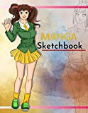 Manga Sketchbook: Pop Anime Blank Comic Book a Great Gift for Artists Drawing Doodling Sketching Journal Notebook or Diary for Tweens, Teens, Girls, Boys, and Adults.