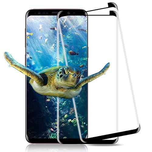 【2 Stück】Panzerglas für Samsung Galaxy S9, 9H Härte, Anti-Fingabdrücken & Anti-Blase, HD Klar, Gehärtetem Glas Schutz Film ,Displayschutzfolie, Schutzfolie für Samsung S9 - Schwarz