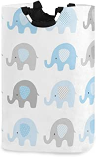 "Blueangle Cute Elephant Laundry Hamper Waterproof Hamper Foldable Laundry Basket for Storage(12.6""x 11""x 22.7"")"