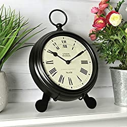 FirsTime & Co. Station Pocket Wall Clock, 9W x 2D x 7H, Black