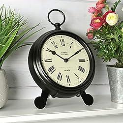 FirsTime & Co. Station Pocket Wall Clock, 9W x 2D x 7H, Black