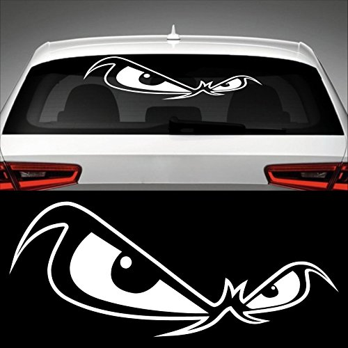 Böser Blick Heckscheibenaufkleber 60,0 cm x 25,0 cm Auto Aufkleber JDM OEM Tuning Sticker Decal 30 Farben zur Auswahl