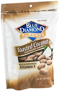 Blue Diamond Toasted Coconut Oven Roasted Almonds (Pack of 2)