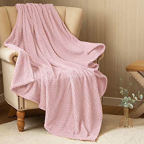 Flanell Throw Blanket Rosa Weiche Ananas Muster Flanell Samt Plüsch Leichte Bettdecke Für Mädchen Baby Teens Couch Sofa Liege Reise Wohnzimmer Schlafzimmer Kinderzimmer Wintergeschenk 127cm*152cm