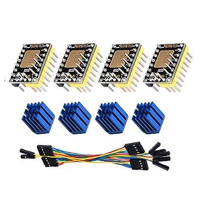 BIGTREETECH TMC2130 V3.0 SPI Stepper Motor Driver Silent 3D Printer Parts for SKR V1.3 MKS GEN L Controller Board (4pcs)