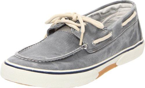 Sperry Mens Halyard 2-Eye Sneaker, SW Grey, 9