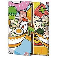 Xperia XZ3 ケース 手帳型 エクスぺリア XZ3 カバー 耐衝撃 スマホケース おしゃれ かわいい 純正 人気 花柄 全機種対応 日本料理 かわいい 食べ物 3624806