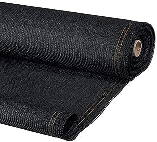 IDMarket - Brise Vue Haute densité Noir 1,5 x 10 m 300 GR/m² qualité Pro