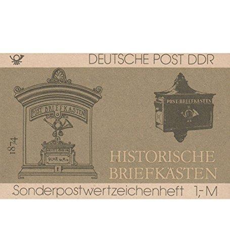 Goldhahn DDR Sondermarken-Heftchen SMHD 22 postfrisch ** Historische Briefkästen Briefmarken für Sammler