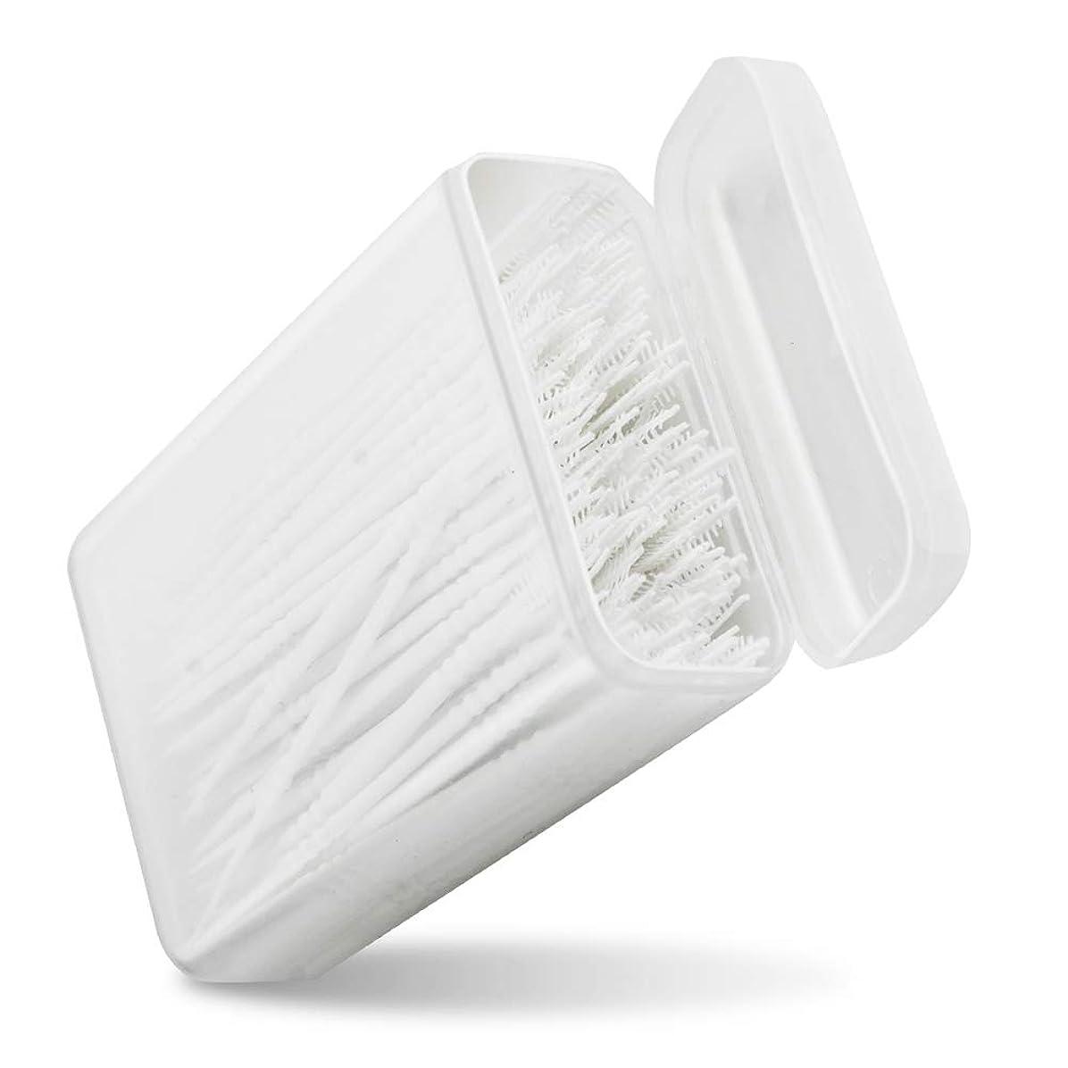 柔らかさアレルギー性プログレッシブPerPure 歯間ピック 150本入り 2way 極細ブラシ ポータブル ケース付き 白い