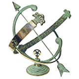 Rome RM1336 Polished Brass 18-Inch Diameter Armillary Sundial