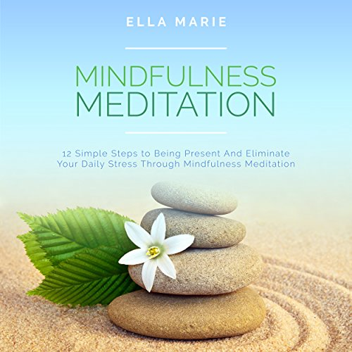 Mindfulness Meditation: 12 Simple Steps to Being Present and Eliminate Your Daily Stress Through Mindfulness Meditation audiobook cover art