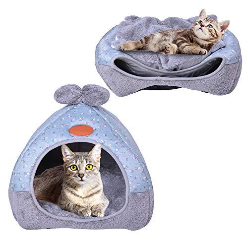 Urijk 2 en 1 Tente Lit Chien Chat Maison avec Coussin pour Chien Chat Igloo Chat Confortable Nid...