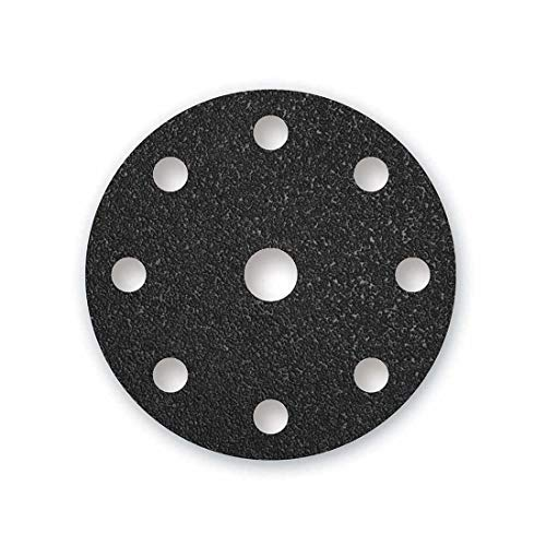 MENZER Black Klett-Schleifscheiben, 150 mm, 9-Loch, Korn 24, f. Exzenterschleifer, Siliciumcarbid (25 Stk.)