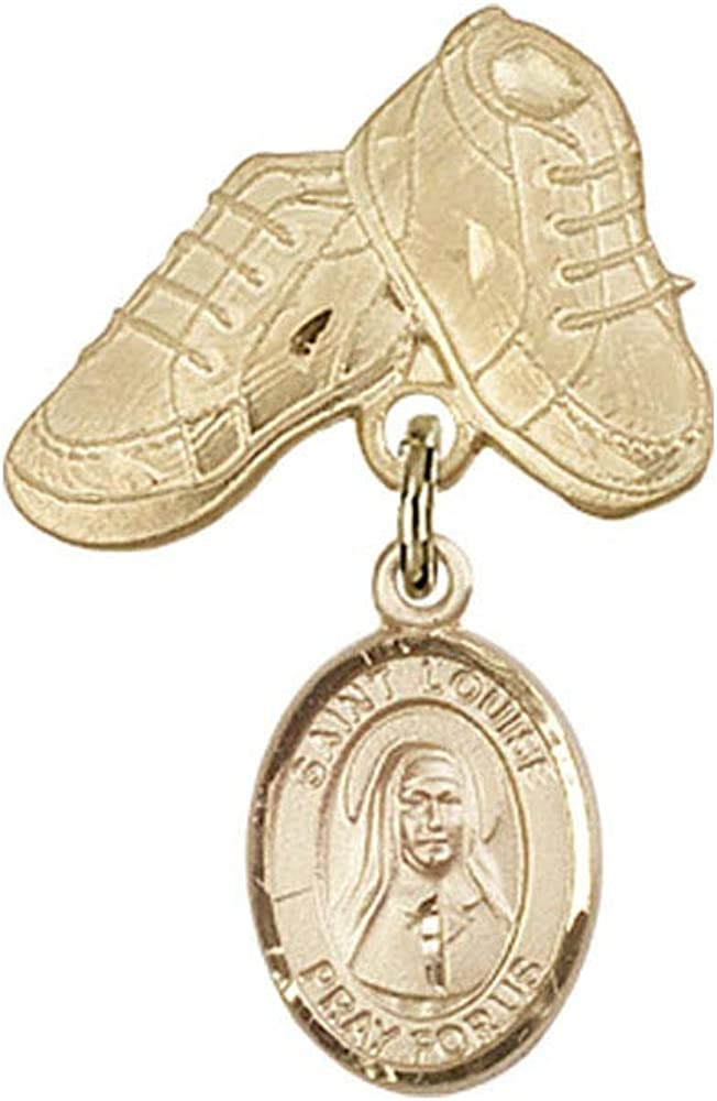 Baby Badge 14kt Gold badge with Marillac Louise Max 90% OFF de Genuine Free Shipping Charm St.