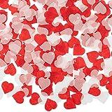 Whaline 6000 Stück Herzen Konfetti Bunte Tisch konfetti Seidenpapier, Tissue Konfetti Herz für Handwerk Hochzeit Geburtstag Party Deko Baby Duschen (1 zoll)