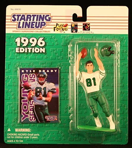 KYLE BRADY   nouveau YORK JETS 1996 NFL Starting Lineup Action Figure & Exclusive NFL Collector Trading voitured by Starting Line Up