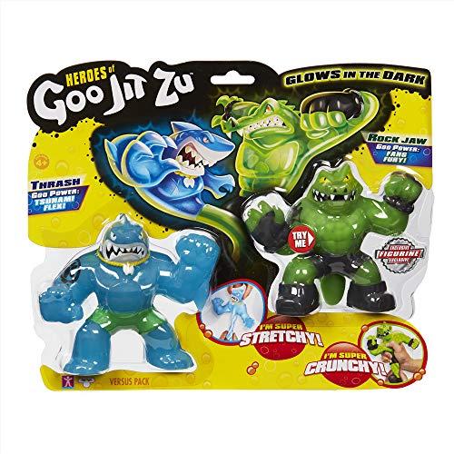 Goo Jit Zu - Thrash Vs Rock Jaw Pack 2 Héroes Goo Jit Zu (C