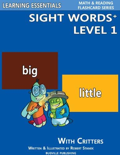 Sight Words Plus Level 1: Sight Words Flash Cards with Critters for Pre-Kindergarten & Up (Learning Essentials Math & Reading Flashcard Series) (Bugville Critters Book 64) (English Edition)