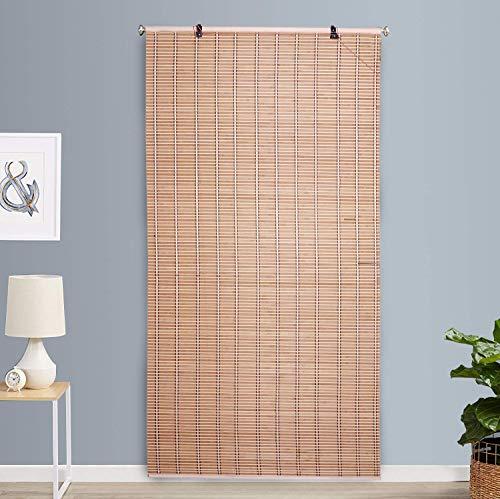 Kurtzy Bamboo Curtain Door Window Closer Shades 180cm x 90cm Protective Screen-Beige