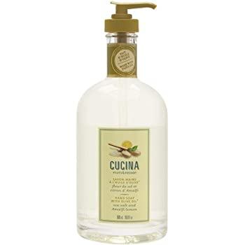 Fruits & Passion [Cucina] - Sea Salt and Amalfi Lemon Hand Soap, Kitchen Liquid Hand Soap, Vegan-Friendly, Natural Moisturizing Hand Wash in Glass Hand Soap Dispenser (16.9 fl oz)