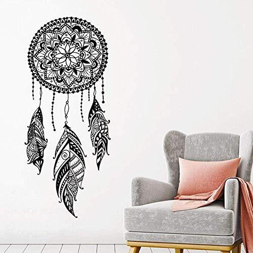 Traumfänger Wandtattoo Federn Nachtsymbol Wandaufkleber Home Schlafzimmer Dekor Indisches Mandala Böhmisches Design Wandbild 42X98Cm