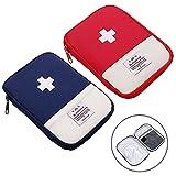 Botiquín de Primeros Auxilios 2 Piezas Kit de primeros Auxilios Bolsa Médica Vacio Bolsa Médica Emergencias Para el Hogar Oficina Coche Camping Aire Libre Viajes y Deportes(Azul Rojo)