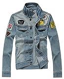 AvaCostume Men's Classic Lightweigth Jean Jacket Coat, S,Small