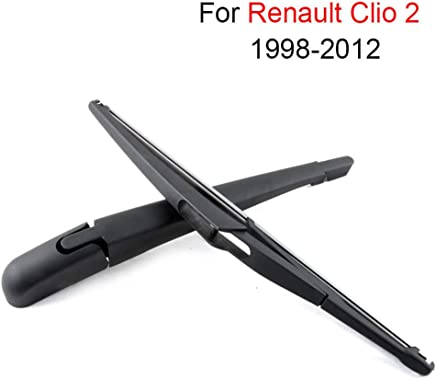 SLONGK Brazo Y Cuchilla De Limpiaparabrisas Traseros, para Renault Clio 2 1998-2012 Accesorios