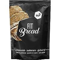 nu3 Fit Bread - 230 g de harina para pan integral con proteína - 15 veces menos carbohidratos - Bajo en azúcar, grasa y sin gluten - Alto contenido de fibra - Prepara fácilmente tu propio pan casero