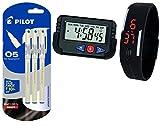 Pilot Hi-Techpoint 05 Super Value Pen - Pack Of 3, Blue Ink