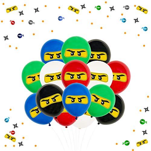 Ninja Party Supplies Dekorationen für Jungen – Ninja Ballons 30 Stück, Karate Geburtstag Dekorationen für Krieger, Kampfsport, Judo Mottoparty