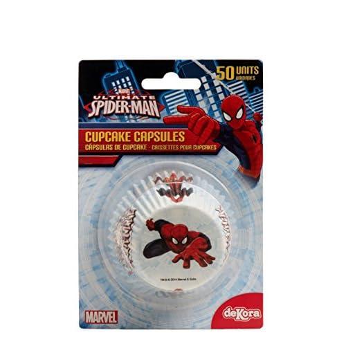 Hasbro Spiderman 339008Pack di 50pirottini Cupcake Carta Bianco 5x 5x 3cm