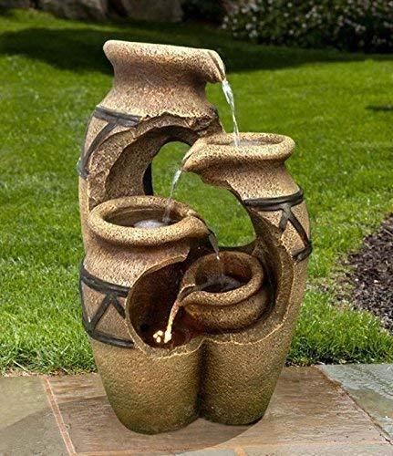 FONTAINE SOLAIRE FONTAINE SOLAIRE Crète jardin fontaine cascade Set complet pour jardin et terrasse jour et nuit ! ✔ NEUF