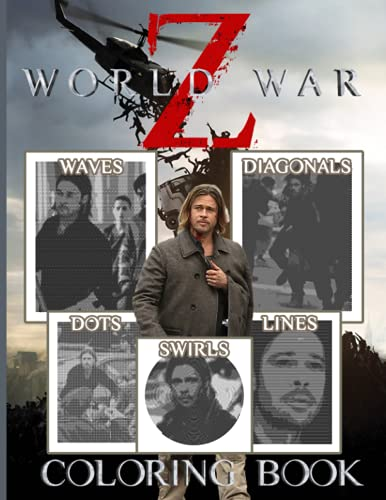 World War Z Dots Swirls Lines Waves Diagonals Coloring Book: Adult Spirograph Styles Colouring Books For Men And Women Creativity